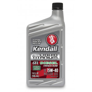 Kendall GT-1 Diesel Motor Oil with Liquid Titanium® 15W-40