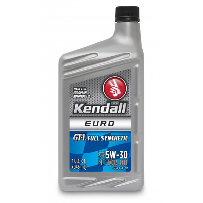 Kendall GT-1® Full Synthetic Euro Motor Oil 5W-30 (Европейская Формула) (1 Quart/0.946 л)