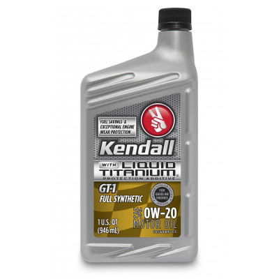 Kendall GT-1® Full Synthetic Motor Oil with Liquid Titanium® 0W-20 (1 US Quart/0.946 л)