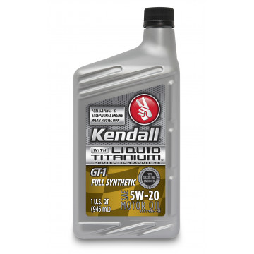 Kendall GT-1® Full Synthetic Motor Oil with Liquid Titanium® 5W-20 (1 US Quart/0.946 л)
