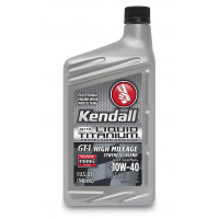 Kendall GT-1® High Mileage Synthetic Blend Motor Oil with Liquid Titanium® 10W-40