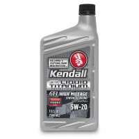 Kendall GT-1® High Mileage Synthetic Blend Motor Oil with Liquid Titanium® 5W-20