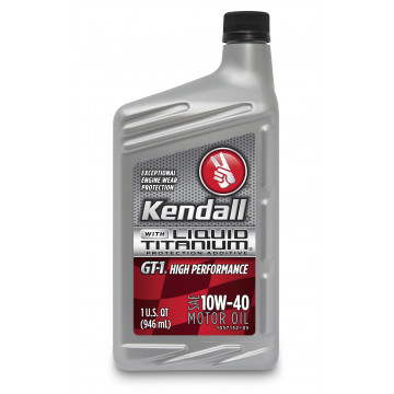 Kendall GT-1® High Performance Motor Oil with Liquid Titanium® 10W-40