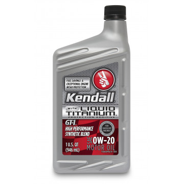 Kendall GT-1® High Performance Synthetic Blend Motor Oil with Liquid Titanium® 0W-20