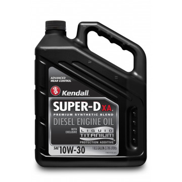 Kendall Super-D XA™ Diesel Engine Oil with Liquid Titanium® 10W-30 (1 US Gallon)