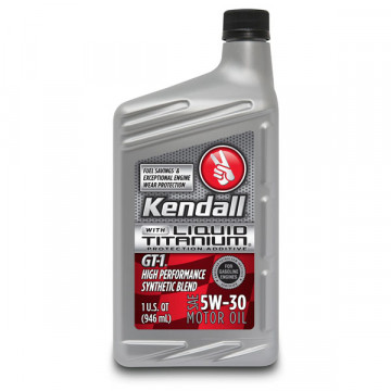 Kendall® GT-1® High Performance Synthetic Blend 5W-30
