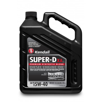 Kendall Super-D XA™ Diesel Engine Oil with Liquid Titanium® 15W- 40 (1 US Gallon)